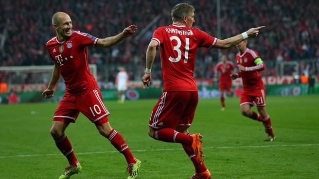 f4d85a2c83f0e El Bayern celebrando el primer gol en el Allianz Arena